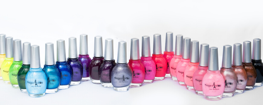Superstar Nail Lacquers is a non-toxic nail polish line